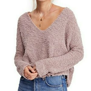 🆕️Free People Fuzzy V-Neck Sweater